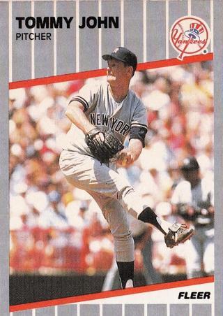 1989 Fleer Tommy John Baseball Card