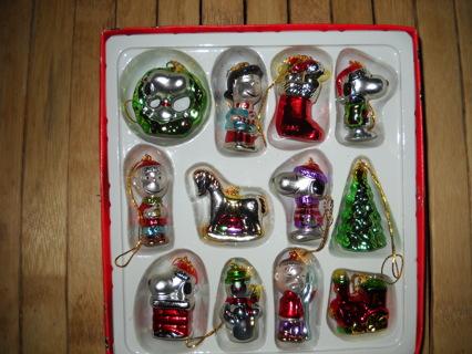 kurt s adler glass peanuts christmas ornamentsnib
