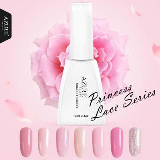 Azure Beauty Princess Series Colors UV Gel Polish Pink Gel Soak-off Led Lamp Nail Gel Polish Varni