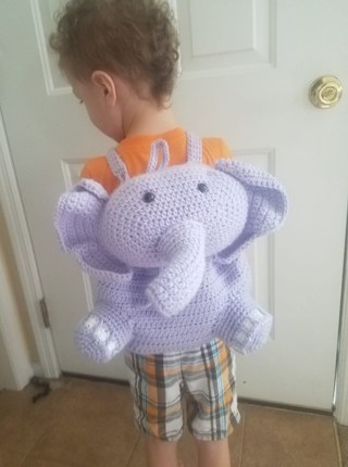 Made to Order Crochet Elephant Backpack