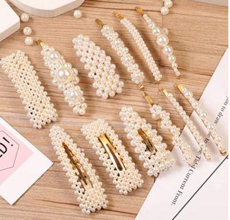 12 Pcs Pearl Hair Clips Large Hair Clips Pins Barrette