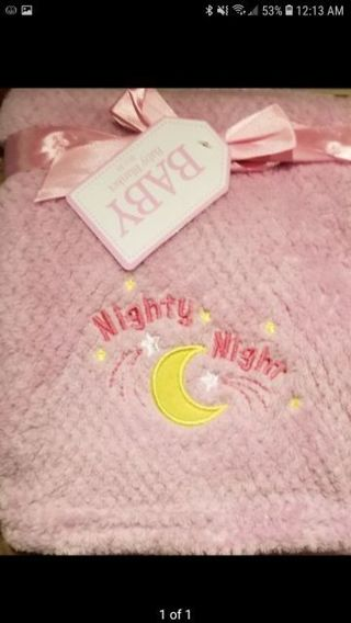 Pink new with tag soft baby blanket