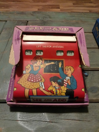 Vintage(1950s?) See and Add Tin Toy