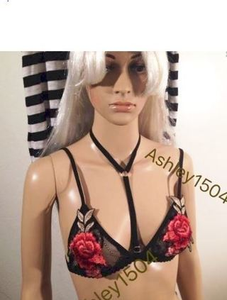 NEW women's SeXy Cute Bralette Harness Bra Chest Accessories