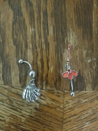 Set Of 2 14 Gauge Belly Rings Brand New