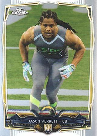2014 TOPPS CHROME JASON VERRETT ROOKIE CARD