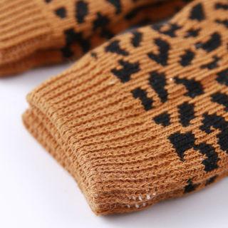 4Pcs/Set Winter Pet Dog Leg Socks Zebra Leopard Dots Print Leg Warmers