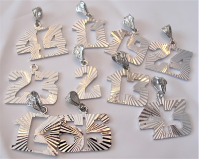 10 Large Silver Charms