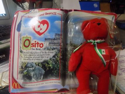 TY NIP International bears # 2 Osito bear Mexico NEW