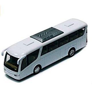 "Kinsmart Coach Bus, White 7"" Die Cast Model Toy Car"