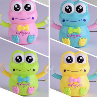 Cute Animal Frog Plastic Cartoon Clockwork Wind Up Toy For Kids Children Gifts