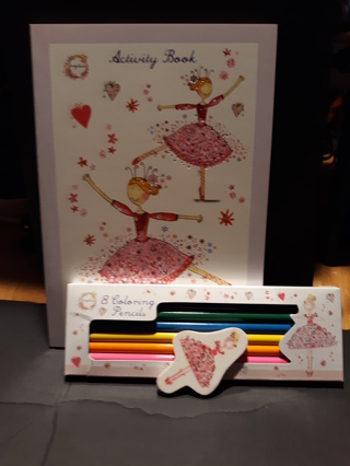 NEW ~ LIL GIRLS ACTIVITY & PENCIL SET