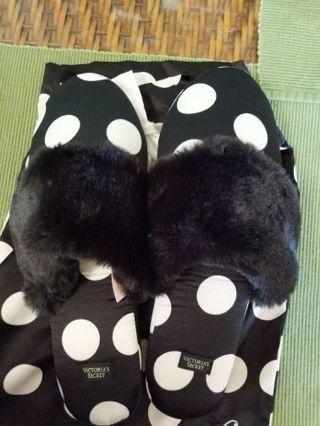 Victoria's Secret satin slippers (M)
