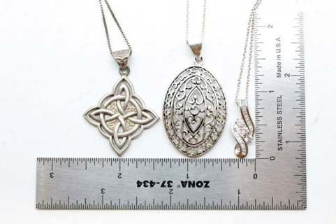 Three Times The Charm 3 Necklaces Celtic Necklace Filigree more