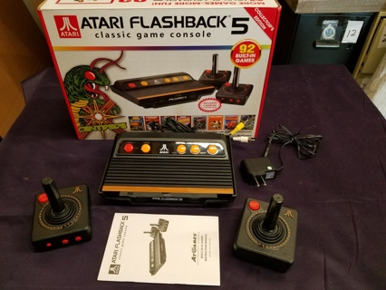 Atari Flashback 5 Classic Game Console w/ 92 Built In Games! In Box