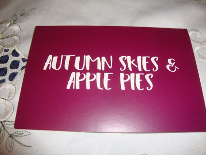 """""""Autumn Skies & Apple Pies"""" Post Card ~ Free Shipping"""
