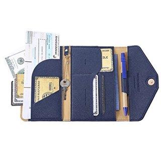 Travel Passport Wallet Trifold Envelope Document Organizer Holder