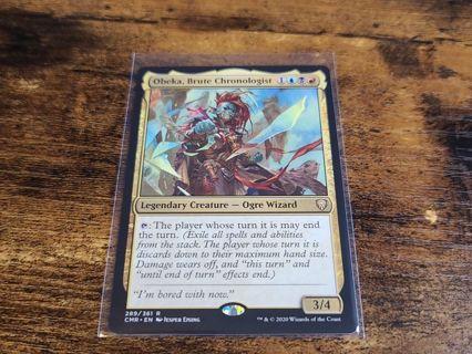 Magic the gathering mtg Obeka Brute Chronologist rare card Commander Legends