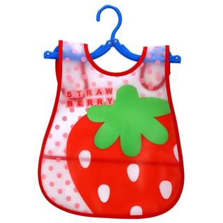 EVA Plastic Waterproof Lunch Feeding Bibs Adjustable Baby Bibs Baby Cartoon Feeding Cloth Children