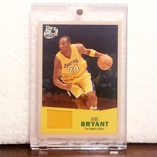 KOBE BRYANT > Los Angeles Lakers PATCH CARD 2007 topps 50th anniversary '57-'58 variant *AWESOME