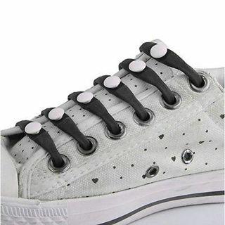 Elastic Silicone No Tie Shoe Laces for Adult Set of 12pcs