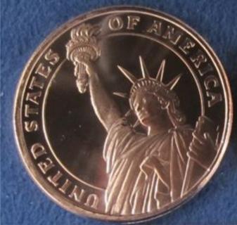* Very Fine Copper Liberty Round Bullion *