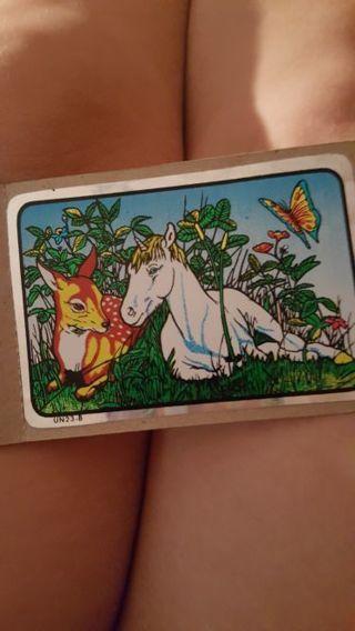 Deer and unicorn sticker