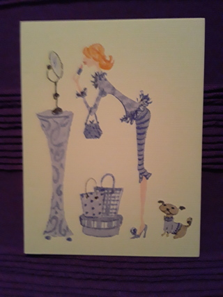 Fashion Notecard - Purple