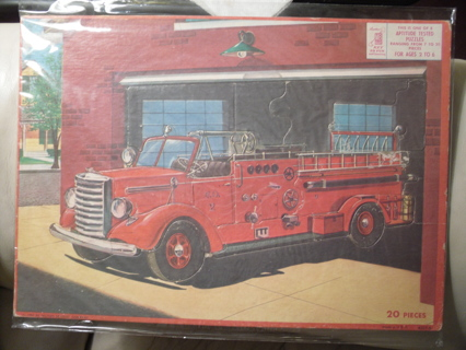 Free: A Fireman\'s Vintage Lot - A 1957 Fire Truck Frame Tray Puzzle ...