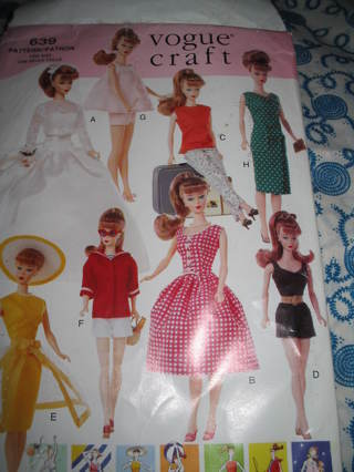 Free: Vogue Craft 639 Barbie Size Doll Clothes Pattern - Sewing ...