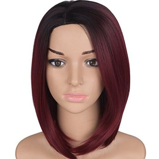 Beautiful Burgundy Wig + Wig Care Set!