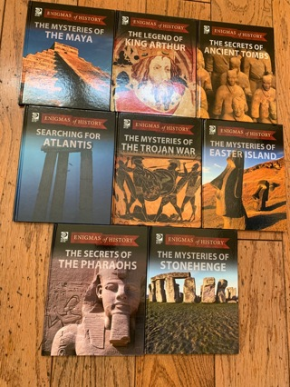World Book- Enigmas of History- Brand new books- set of 8- worth $209