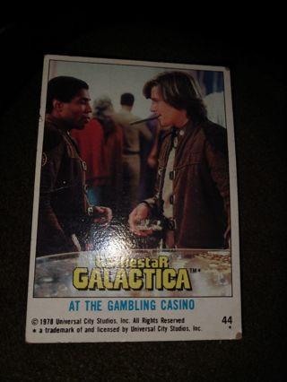 Battlestar Galactica Card - At the Gambling Casino