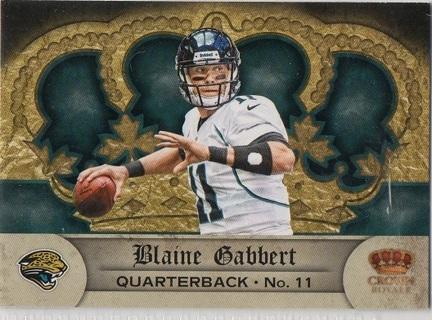 2012 Crown Royale #33 Blaine Gabbert Football Card NM/Mint condition