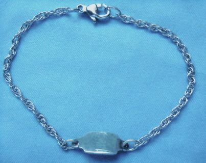 Free Sterling Silver Marked James Avery Baby Id Bracelet Ship