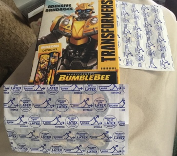 4 ~ Transformers BumbleBee Adhesive Bandages