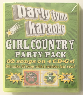 Party Tyme Karaoke - Girl Country Party Pack 32 Total Songs on 4 CD+Gs - New Sealed