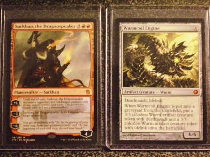 MTG 312 CARD LOT W/ PLANESWALKERS, MYTHICS, RARES, EMBLEMS AND FOIL CARDS (PARTIAL LIST IN DETAILS)