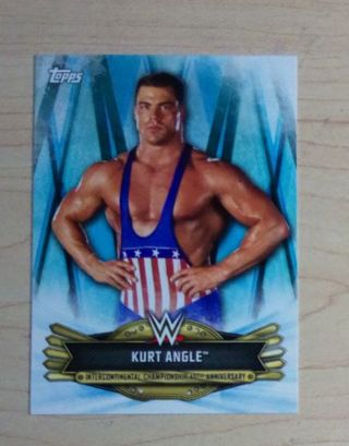 WWE 2019 Intercontinental Championship 40th Anniversary Insert Kurt Angle Card