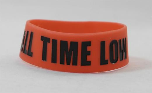 ALL TIME LOW band wristband bracelet band HOT TOPIC punk emo goth pop