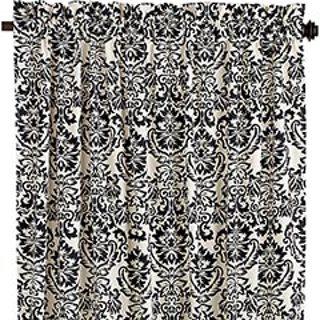 Free Pier One Damask White Black Panel Curtains Lot 4