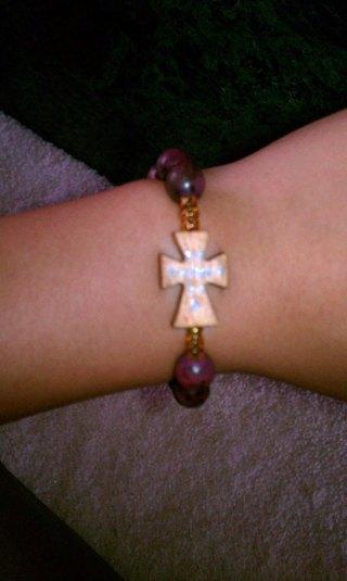 Handmade WoodCross Bracelet