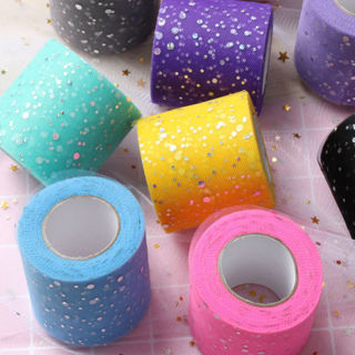 [GIN FOR FREE SHIPPING] 2PCs Sequin Tulle Roll Wedding Party Decor Tutu Organza Laser DIY