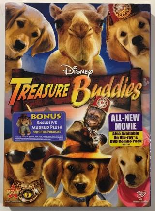 Disney Treasure Buddies DVD Movie with Slipcover - Partially Sealed!