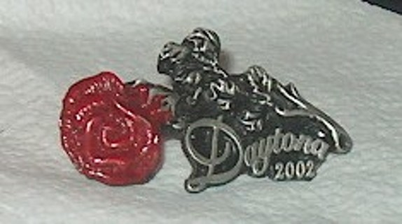 2002 Daytona Rose Pin from Bike Week