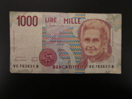 Free: 1000 LIRE MILLE DOLLAR BILL 1990 ITALIAN - Other Collectibles - Listia.com Auctions for ...