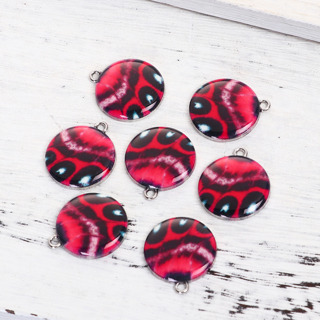 2 Butterfly Wing Charms