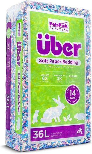PETSPICK Uber Soft Paper Pet Bedding for Small Animals