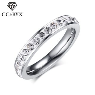 CC Titanium Steel Rings For Women And Men Trendy Jewelry Mud Colorful Ring Cubic Zirconia Anillos