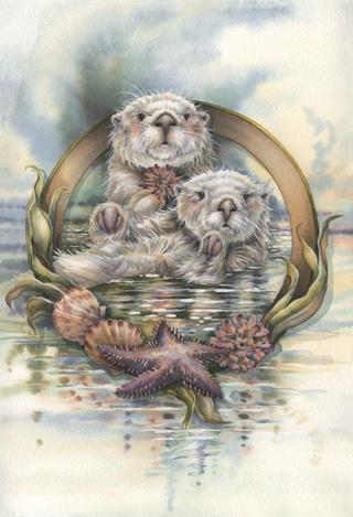 Free Sea Otter Cross Stitch Pattern Needlepoint